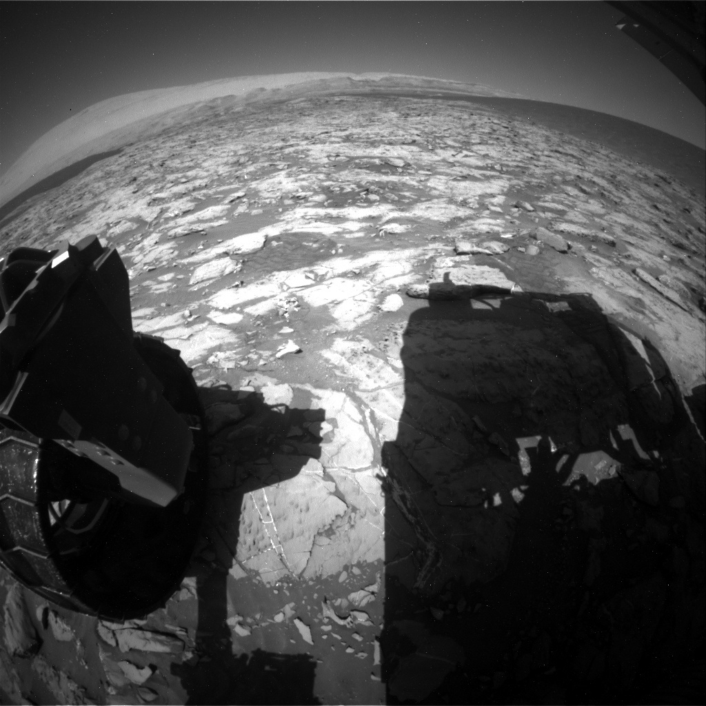 NASA's Mars rover Curiosity acquired this image using its Rear Hazard Avoidance Cameras (Rear Hazcams) on Sol 1255