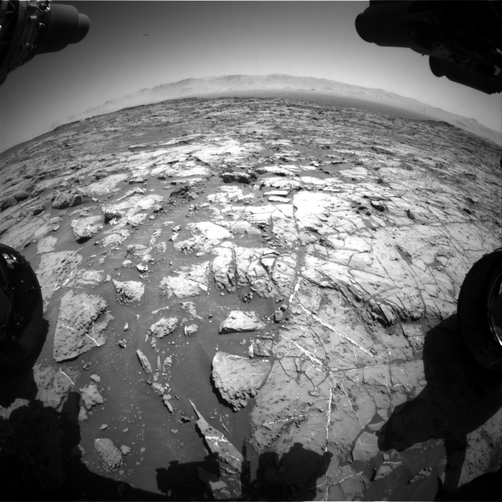 Nasa's Mars rover Curiosity acquired this image using its Front Hazard Avoidance Camera (Front Hazcam) on Sol 1256, at drive 2500, site number 52