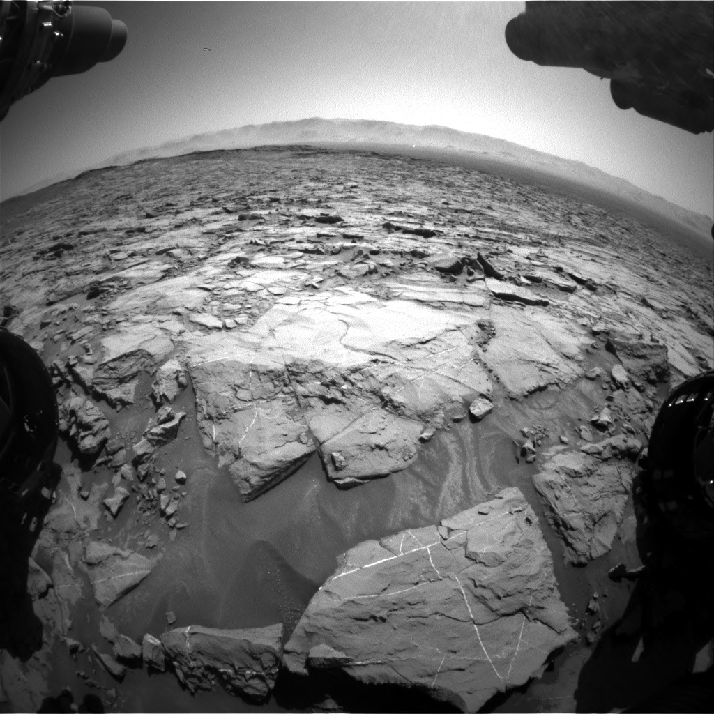 Nasa's Mars rover Curiosity acquired this image using its Front Hazard Avoidance Camera (Front Hazcam) on Sol 1256, at drive 2668, site number 52