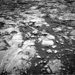 Nasa's Mars rover Curiosity acquired this image using its Left Navigation Camera on Sol 1256, at drive 2518, site number 52