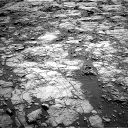 Nasa's Mars rover Curiosity acquired this image using its Left Navigation Camera on Sol 1256, at drive 2536, site number 52