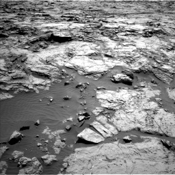 Nasa's Mars rover Curiosity acquired this image using its Left Navigation Camera on Sol 1256, at drive 2620, site number 52