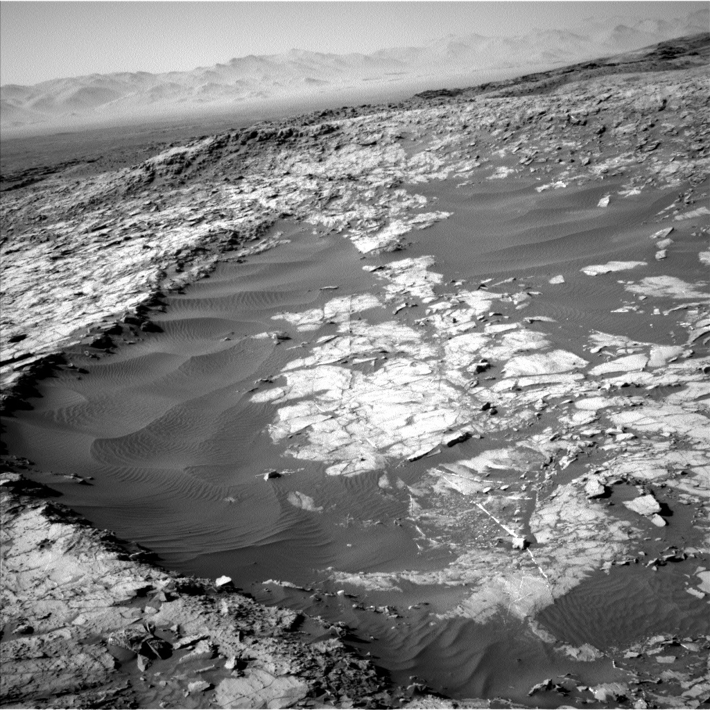 NASA's Mars rover Curiosity acquired this image using its Left Navigation Camera (Navcams) on Sol 1256