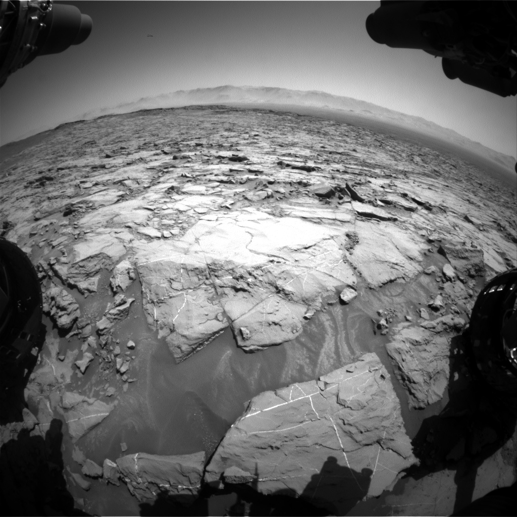 Nasa's Mars rover Curiosity acquired this image using its Front Hazard Avoidance Camera (Front Hazcam) on Sol 1257, at drive 2668, site number 52