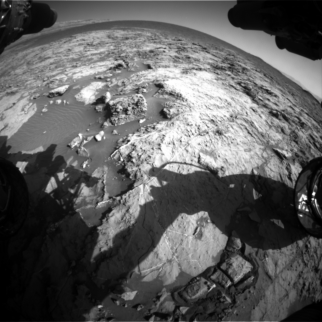 Nasa's Mars rover Curiosity acquired this image using its Front Hazard Avoidance Camera (Front Hazcam) on Sol 1257, at drive 2678, site number 52