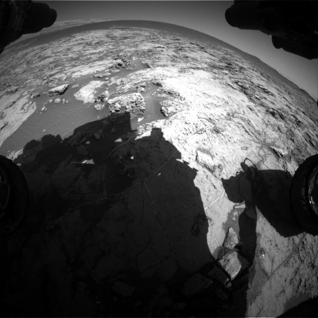 Nasa's Mars rover Curiosity acquired this image using its Front Hazard Avoidance Camera (Front Hazcam) on Sol 1258, at drive 2678, site number 52