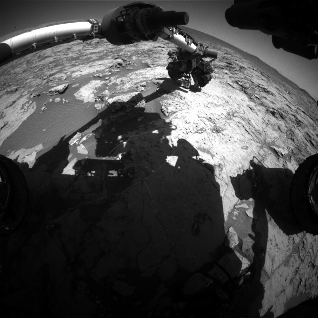 Nasa's Mars rover Curiosity acquired this image using its Front Hazard Avoidance Camera (Front Hazcam) on Sol 1260, at drive 2678, site number 52