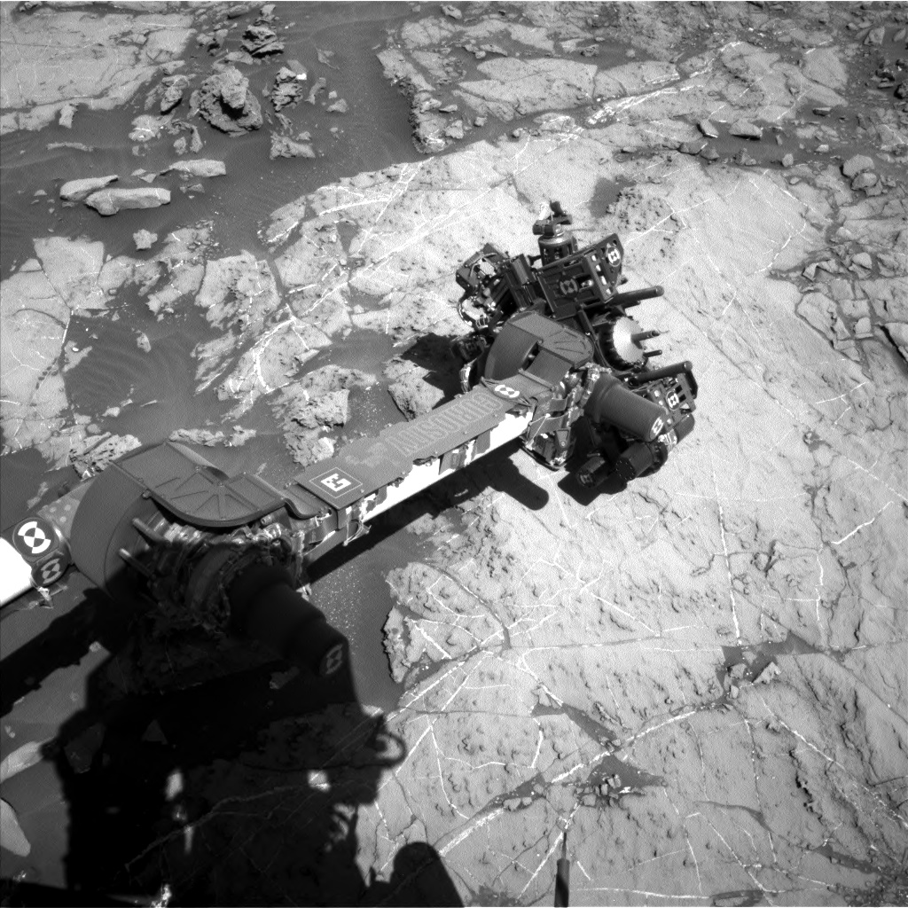 Nasa's Mars rover Curiosity acquired this image using its Left Navigation Camera on Sol 1260, at drive 2678, site number 52