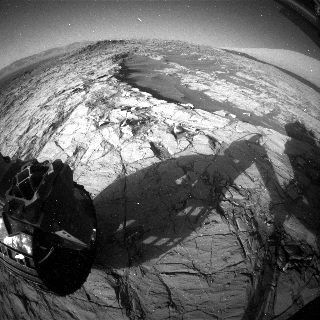 NASA's Mars rover Curiosity acquired this image using its Rear Hazard Avoidance Cameras (Rear Hazcams) on Sol 1260