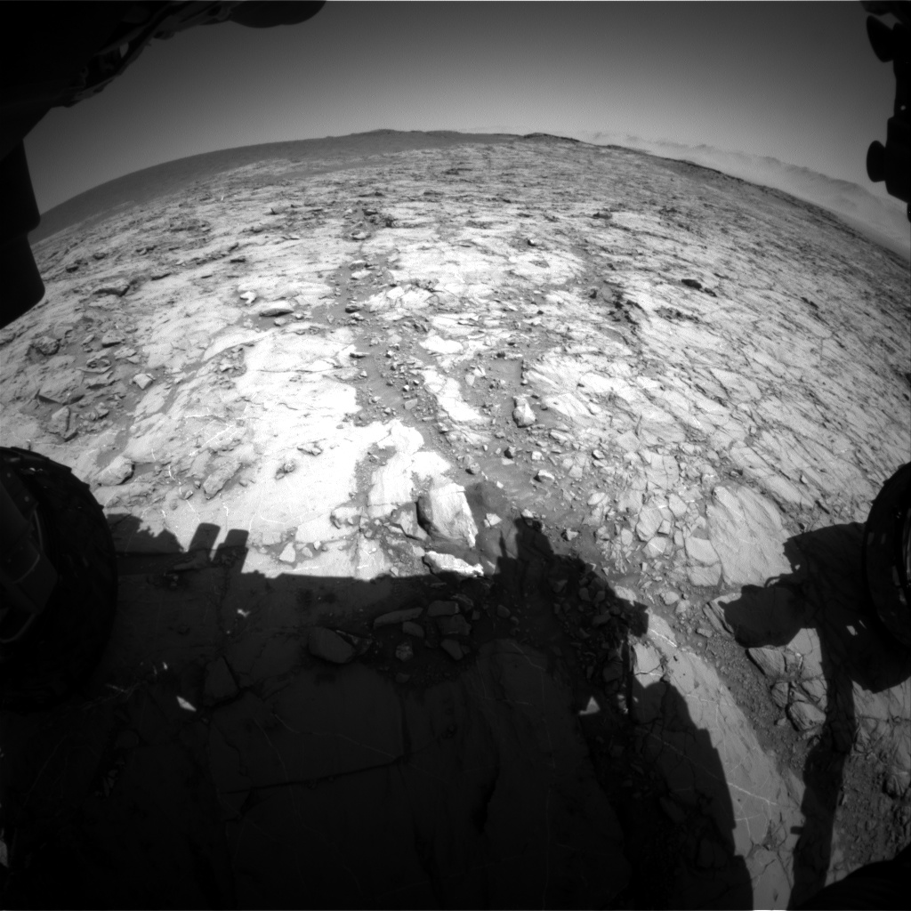 Nasa's Mars rover Curiosity acquired this image using its Front Hazard Avoidance Camera (Front Hazcam) on Sol 1261, at drive 2772, site number 52