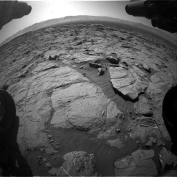 Nasa's Mars rover Curiosity acquired this image using its Front Hazard Avoidance Camera (Front Hazcam) on Sol 1262, at drive 3096, site number 52
