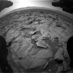 Nasa's Mars rover Curiosity acquired this image using its Front Hazard Avoidance Camera (Front Hazcam) on Sol 1262, at drive 3108, site number 52