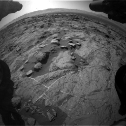 Nasa's Mars rover Curiosity acquired this image using its Front Hazard Avoidance Camera (Front Hazcam) on Sol 1262, at drive 3120, site number 52