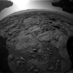 Nasa's Mars rover Curiosity acquired this image using its Front Hazard Avoidance Camera (Front Hazcam) on Sol 1262, at drive 3156, site number 52