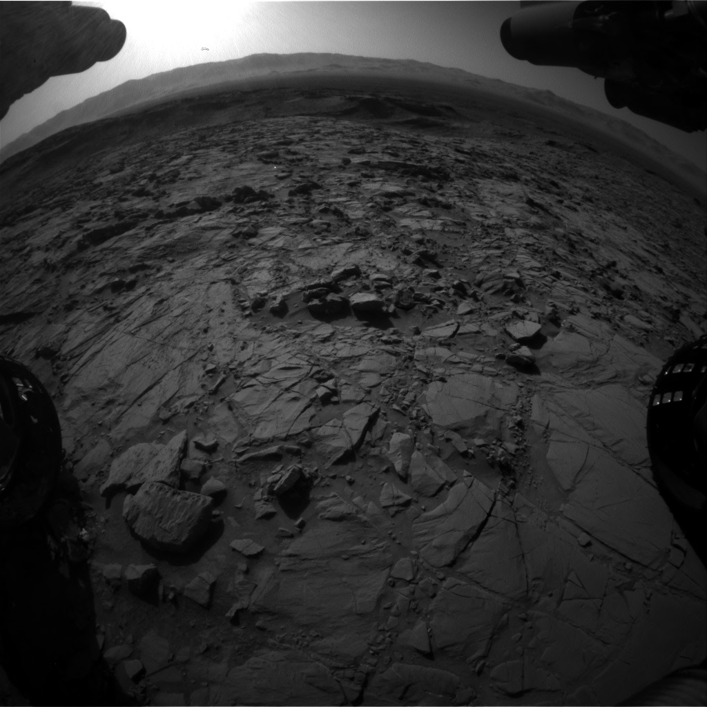 Nasa's Mars rover Curiosity acquired this image using its Front Hazard Avoidance Camera (Front Hazcam) on Sol 1262, at drive 0, site number 53