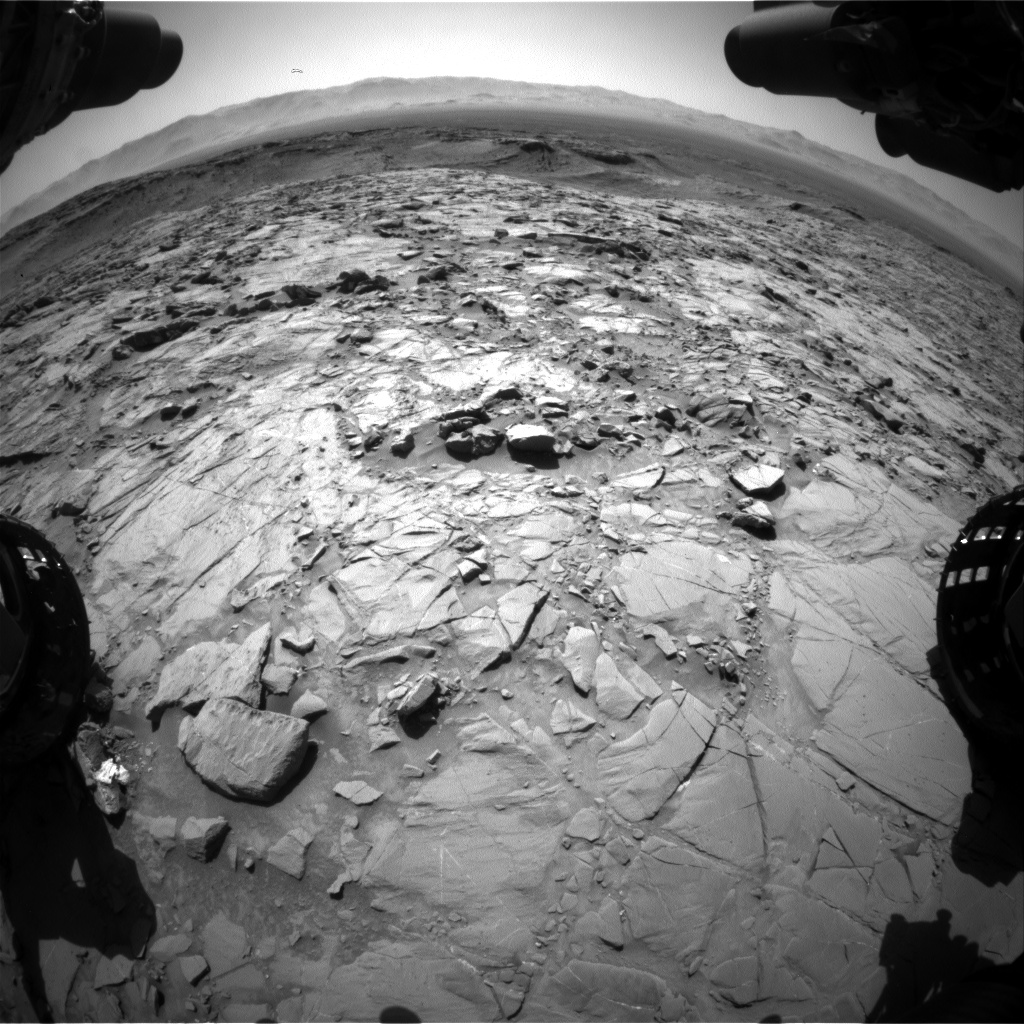 Nasa's Mars rover Curiosity acquired this image using its Front Hazard Avoidance Camera (Front Hazcam) on Sol 1263, at drive 0, site number 53