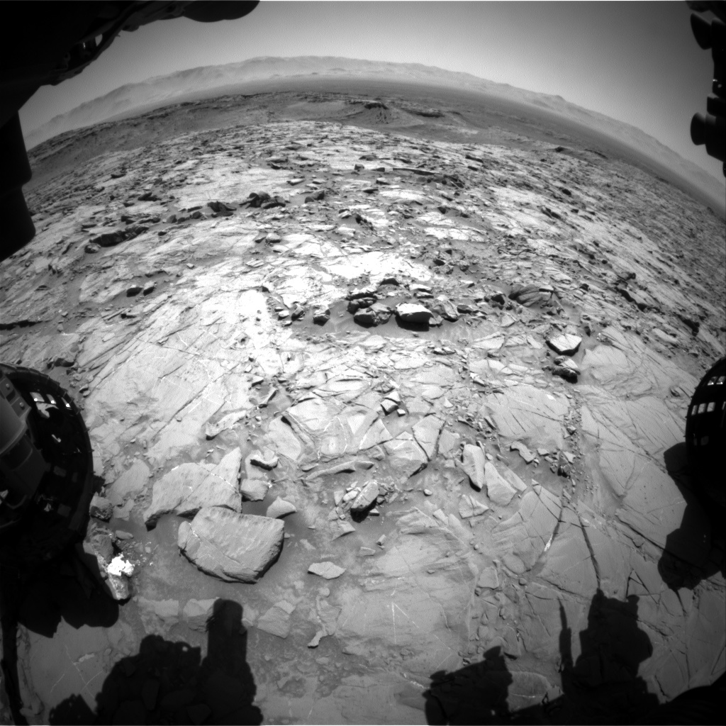 Nasa's Mars rover Curiosity acquired this image using its Front Hazard Avoidance Camera (Front Hazcam) on Sol 1264, at drive 0, site number 53