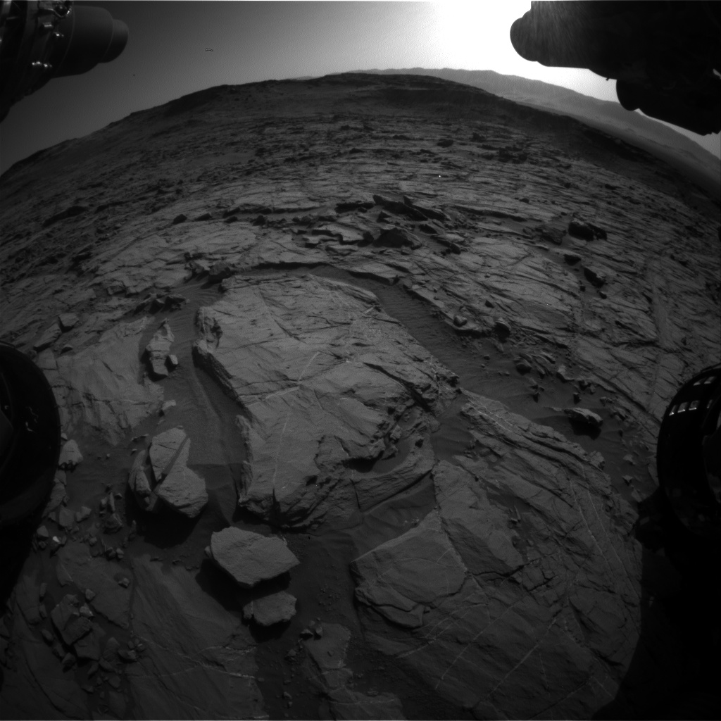 Nasa's Mars rover Curiosity acquired this image using its Front Hazard Avoidance Camera (Front Hazcam) on Sol 1264, at drive 186, site number 53