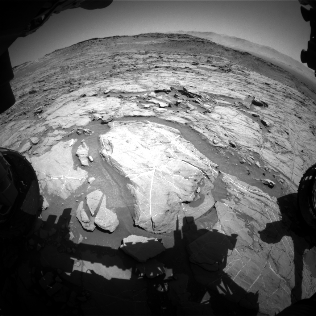 Nasa's Mars rover Curiosity acquired this image using its Front Hazard Avoidance Camera (Front Hazcam) on Sol 1265, at drive 186, site number 53