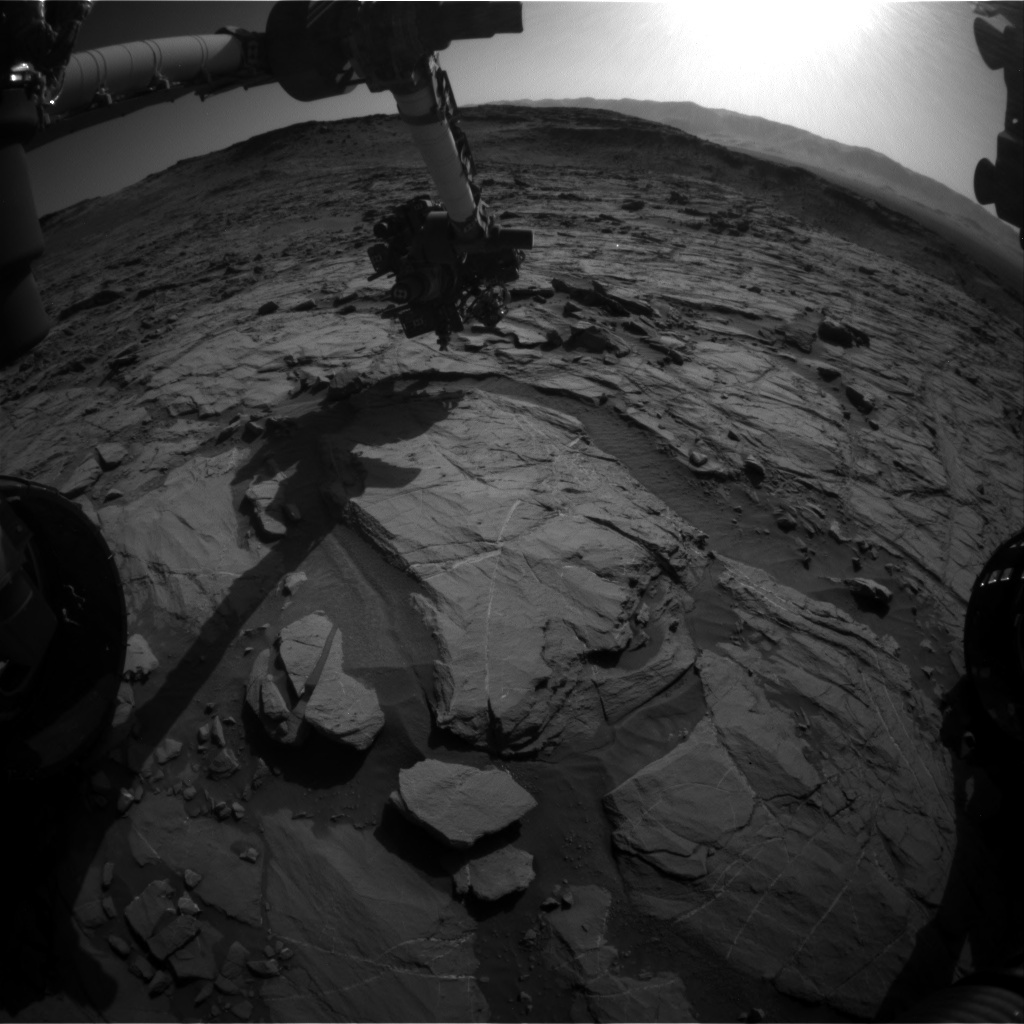 NASA's Mars rover Curiosity acquired this image using its Front Hazard Avoidance Cameras (Front Hazcams) on Sol 1266