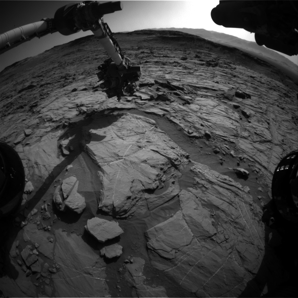 Nasa's Mars rover Curiosity acquired this image using its Front Hazard Avoidance Camera (Front Hazcam) on Sol 1266, at drive 186, site number 53