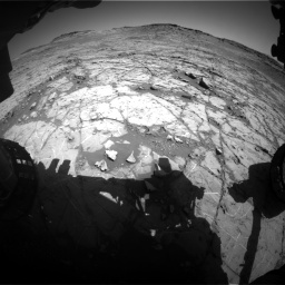 Nasa's Mars rover Curiosity acquired this image using its Front Hazard Avoidance Camera (Front Hazcam) on Sol 1267, at drive 348, site number 53