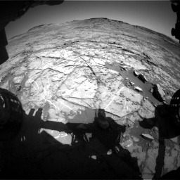 Nasa's Mars rover Curiosity acquired this image using its Front Hazard Avoidance Camera (Front Hazcam) on Sol 1267, at drive 360, site number 53