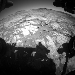 Nasa's Mars rover Curiosity acquired this image using its Front Hazard Avoidance Camera (Front Hazcam) on Sol 1267, at drive 318, site number 53