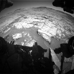 Nasa's Mars rover Curiosity acquired this image using its Front Hazard Avoidance Camera (Front Hazcam) on Sol 1267, at drive 336, site number 53