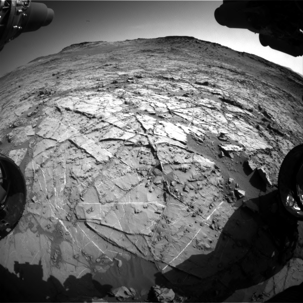 Nasa's Mars rover Curiosity acquired this image using its Front Hazard Avoidance Camera (Front Hazcam) on Sol 1267, at drive 372, site number 53