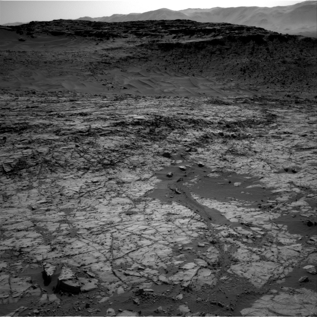 NASA's Mars rover Curiosity acquired this image using its Right Navigation Cameras (Navcams) on Sol 1267