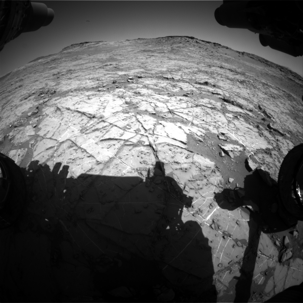 Nasa's Mars rover Curiosity acquired this image using its Front Hazard Avoidance Camera (Front Hazcam) on Sol 1268, at drive 372, site number 53