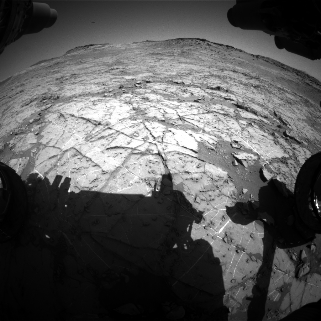 Nasa's Mars rover Curiosity acquired this image using its Front Hazard Avoidance Camera (Front Hazcam) on Sol 1269, at drive 372, site number 53