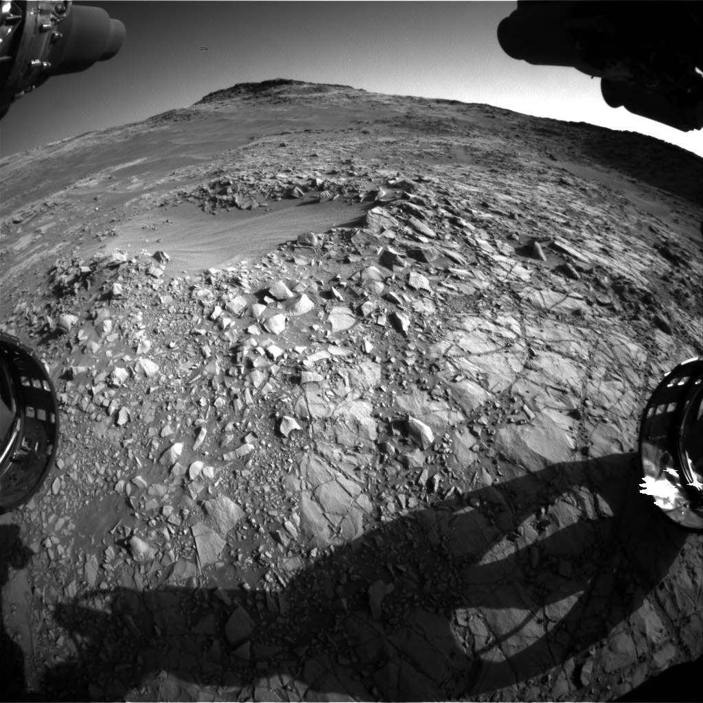 Nasa's Mars rover Curiosity acquired this image using its Front Hazard Avoidance Camera (Front Hazcam) on Sol 1269, at drive 636, site number 53