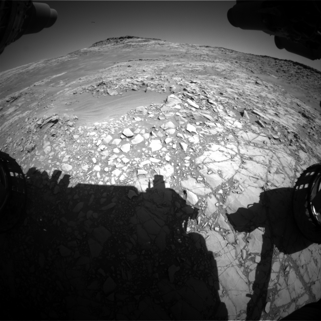 Nasa's Mars rover Curiosity acquired this image using its Front Hazard Avoidance Camera (Front Hazcam) on Sol 1270, at drive 636, site number 53