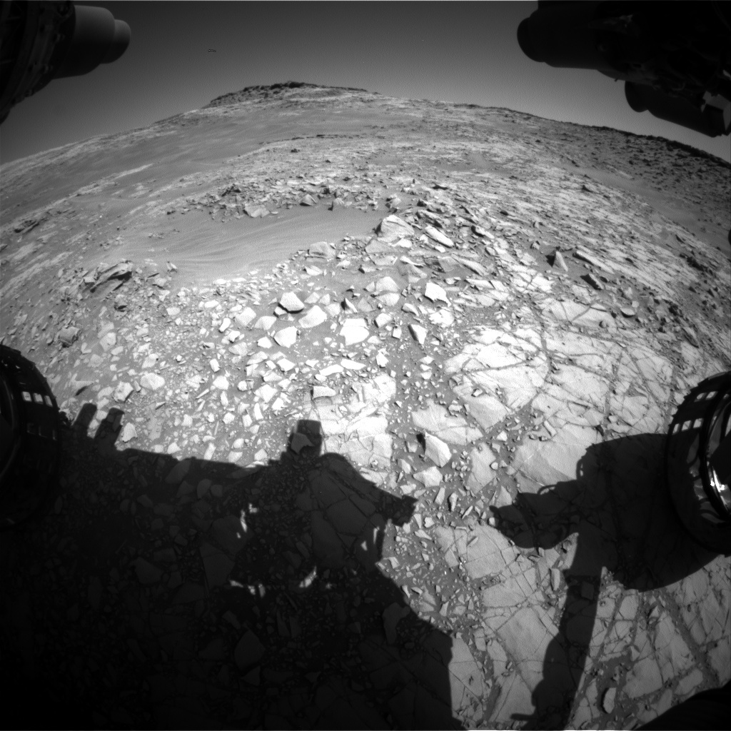 Nasa's Mars rover Curiosity acquired this image using its Front Hazard Avoidance Camera (Front Hazcam) on Sol 1271, at drive 636, site number 53