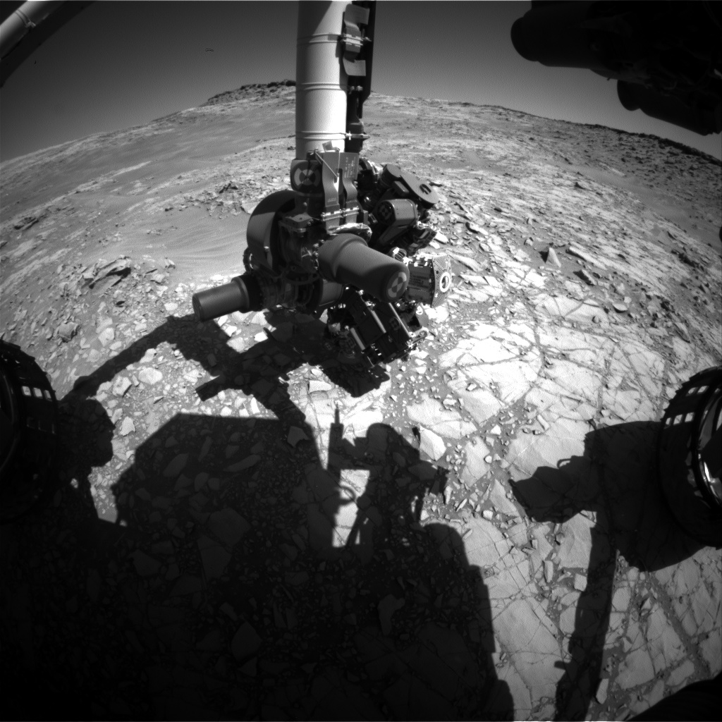 Nasa's Mars rover Curiosity acquired this image using its Front Hazard Avoidance Camera (Front Hazcam) on Sol 1272, at drive 636, site number 53