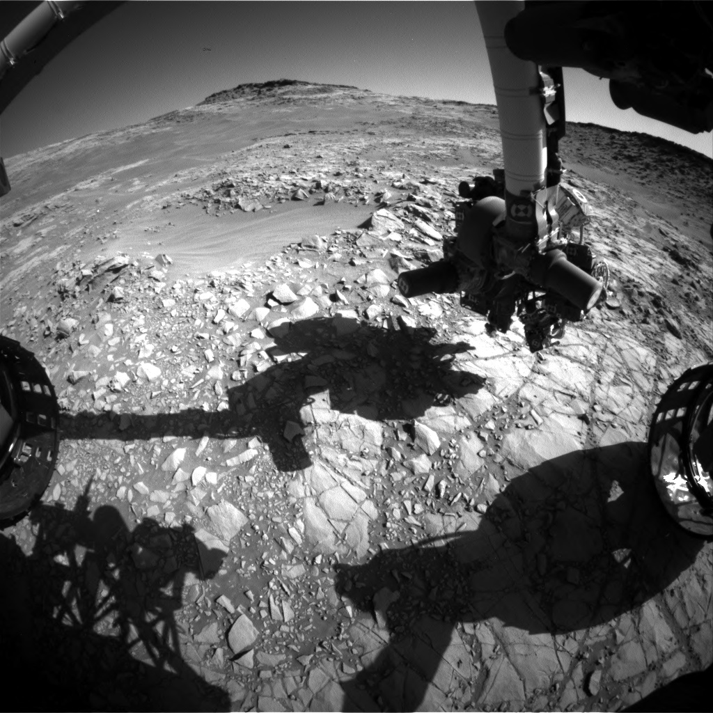 Nasa's Mars rover Curiosity acquired this image using its Front Hazard Avoidance Camera (Front Hazcam) on Sol 1273, at drive 636, site number 53