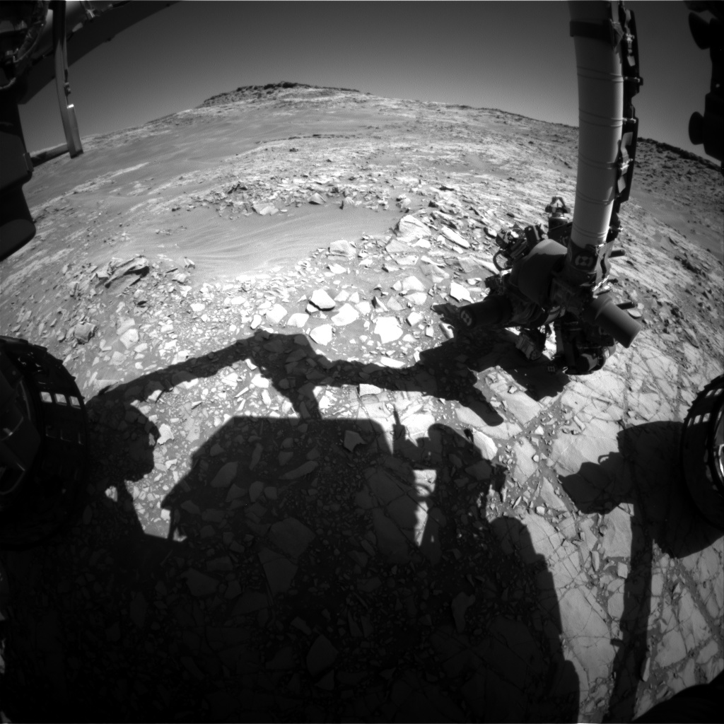 Nasa's Mars rover Curiosity acquired this image using its Front Hazard Avoidance Camera (Front Hazcam) on Sol 1274, at drive 636, site number 53