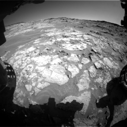 Nasa's Mars rover Curiosity acquired this image using its Front Hazard Avoidance Camera (Front Hazcam) on Sol 1274, at drive 834, site number 53