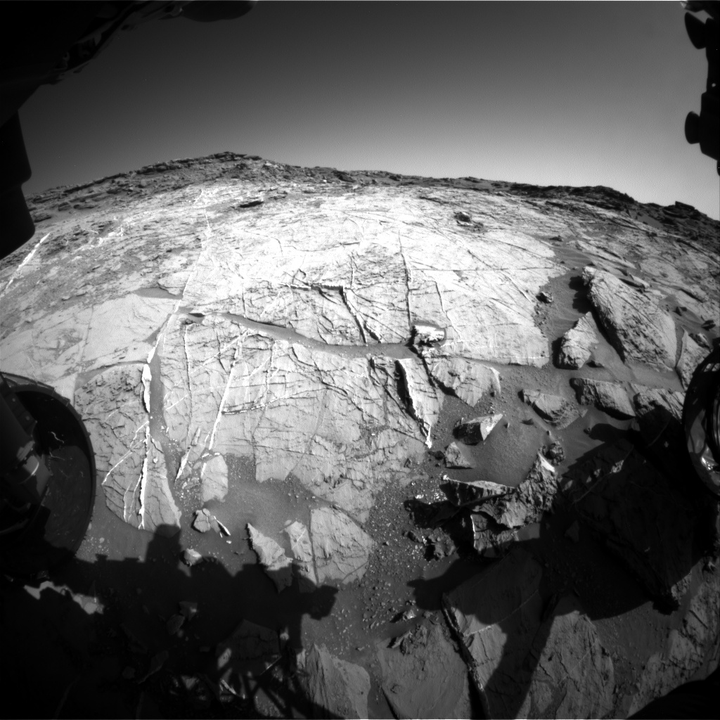 Nasa's Mars rover Curiosity acquired this image using its Front Hazard Avoidance Camera (Front Hazcam) on Sol 1274, at drive 1056, site number 53