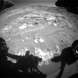 Nasa's Mars rover Curiosity acquired this image using its Front Hazard Avoidance Camera (Front Hazcam) on Sol 1274, at drive 810, site number 53