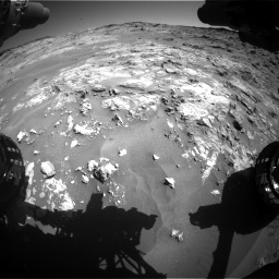 Nasa's Mars rover Curiosity acquired this image using its Front Hazard Avoidance Camera (Front Hazcam) on Sol 1274, at drive 822, site number 53