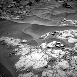 Nasa's Mars rover Curiosity acquired this image using its Left Navigation Camera on Sol 1274, at drive 714, site number 53