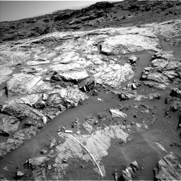 Nasa's Mars rover Curiosity acquired this image using its Left Navigation Camera on Sol 1274, at drive 1038, site number 53