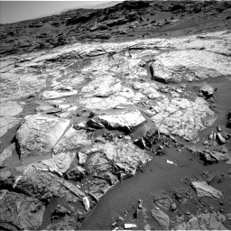 Nasa's Mars rover Curiosity acquired this image using its Left Navigation Camera on Sol 1274, at drive 1044, site number 53