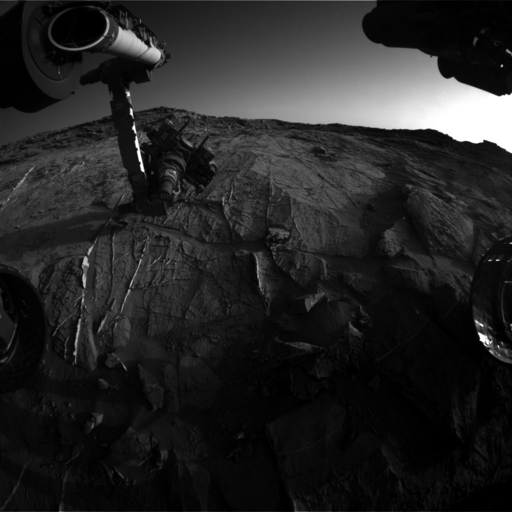 Nasa's Mars rover Curiosity acquired this image using its Front Hazard Avoidance Camera (Front Hazcam) on Sol 1275, at drive 1056, site number 53