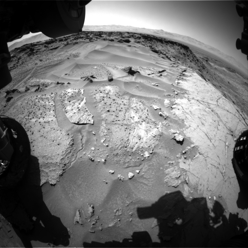 Nasa's Mars rover Curiosity acquired this image using its Front Hazard Avoidance Camera (Front Hazcam) on Sol 1276, at drive 1182, site number 53
