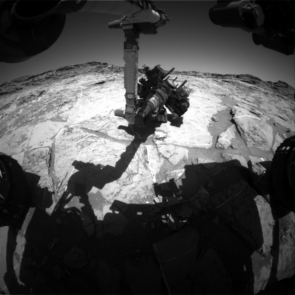 NASA's Mars rover Curiosity acquired this image using its Front Hazard Avoidance Cameras (Front Hazcams) on Sol 1276