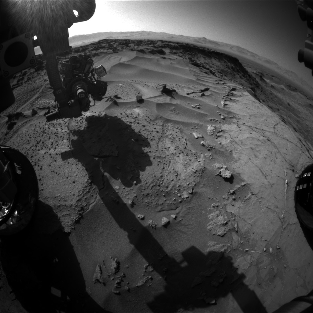 NASA's Mars rover Curiosity acquired this image using its Front Hazard Avoidance Cameras (Front Hazcams) on Sol 1277